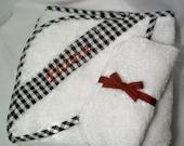 Alabama Hooded Towel Baby Gift Set Three pcs One Hooded Towel Two Washcloths