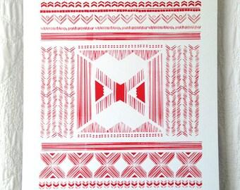 Folk Quilt Print