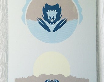 Mountain Flower Screen Print