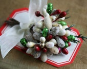 winter white glittered sugar stamen bundle
