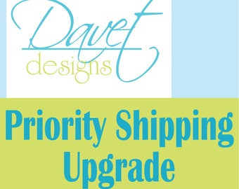 2-3 Day Priority USPS Shipping Upgrade from regular standard first class shipping