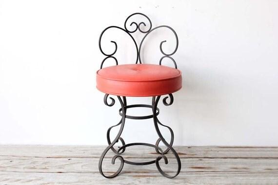 Wrought Iron Vanity Seat