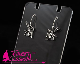 Silver Fairy Earrings  - Damselfly - Original Kisses Collection - Exclusively designed by Faery Kisses