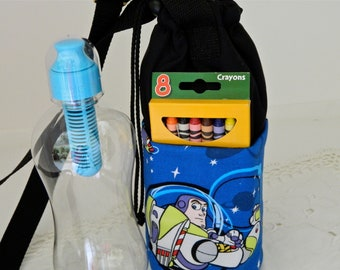 Buzz Light Year Insulated Water Bottle Carrier with pockets
