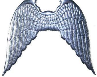 Dresden Wings Made In Germany 2 Large Silver Foil Dresden Angel Wings
