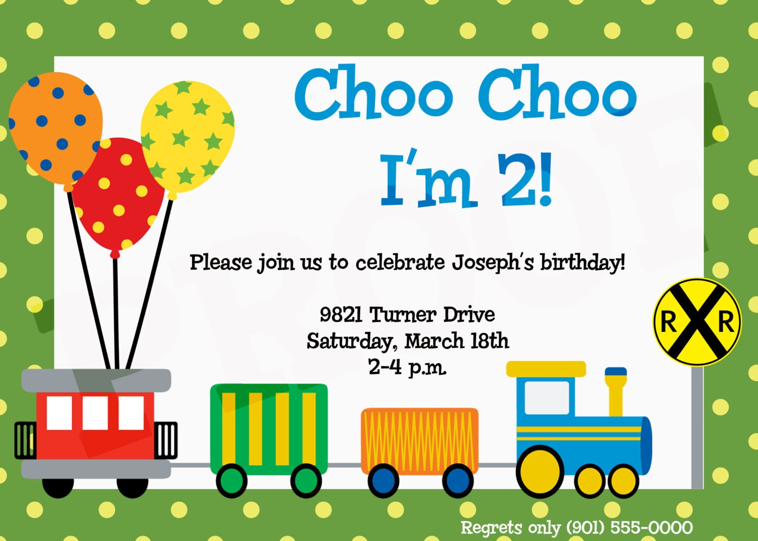 train birthday train party train invitation train birthday, Party invitations