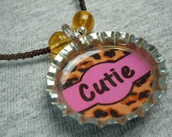 Cheetah Print Cutie Necklace - CLEARANCE