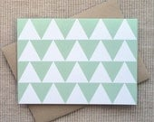 SALE - 8 Abstract Christmas Tree Cards - Triangle Holiday Cards (Set of 8)