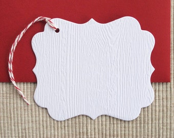 SALE - 8 Woodgrain Gift Tags - Christmas Gift Tags (Set of 8)