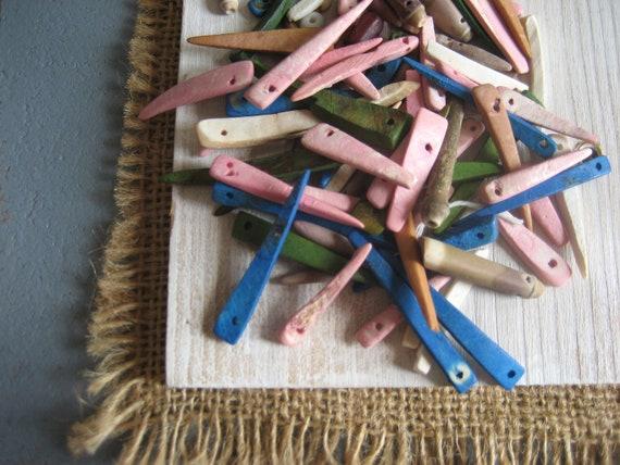 coconut stick  sea urchin beads mix 40 pcs , Orphan Left Over Mix