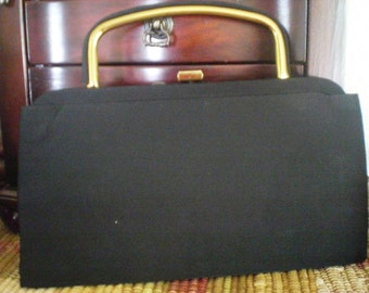 Vintage Black Cloth Pocketbook by J.R. USA- Julius Resnick with Free Scarf
