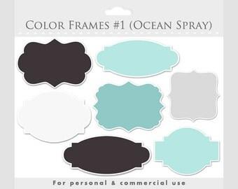 Frames clipart - elegant frames, ornate flourish frames, digital frames collage and scrapbooking for commercial use