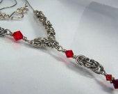 SLIGHTLY BYZANTINE - Sterling Silver and Swarovski Necklace