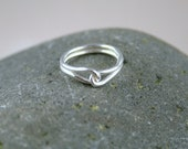Love Knot Ring, Fine silver Wire, For Bridesmaids, Brides, Best Friends, Love