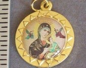 Our Lady of Perpetual Help Medal Charm Pendant