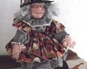 Henrietta - Fairy Godmother Primitive Folk Art Doll OOAK by Edna Bridges