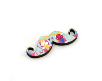 Moustache Brooch, Ice Cream Pin, Movember Facial Hair Accessory