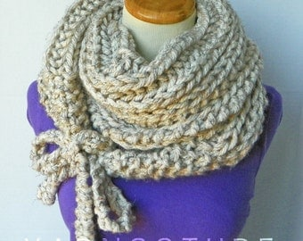 The TOOLAKSAK - Textured/Ribbed Wrap & Tie Cowl - Fall Winter Fashion / Thick And Warm