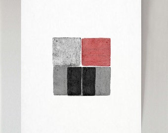 Four Blocks 1 art print