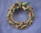 vintage Christmas brooch marked Gerry's