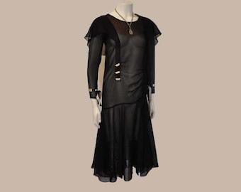 1920s dress / Vintage Dress / Flapper Sheer Delight 20's Jazz Age