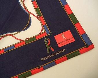 70s scarf / Vintage 1970's Roberta di Camerino 3 Scarves or Hanky Boxed Set