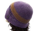 Crochet Cloche, 1920's Flapper Hat, Asymmetrical hat