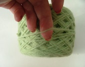 CLEARANCE SALE Lambswool Angora Nylon Reclaimed Recycled Eco Friendly Yarn 280 Yards Spring Green Sport
