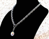 Pittsburgh Steelers Chainmaille Necklace, Pittsburgh Pride