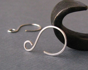 Silver Filled Ear Wires, Little Swinger Hoops, Handmade Earwire Supplies, 3 pairs - Made in USA