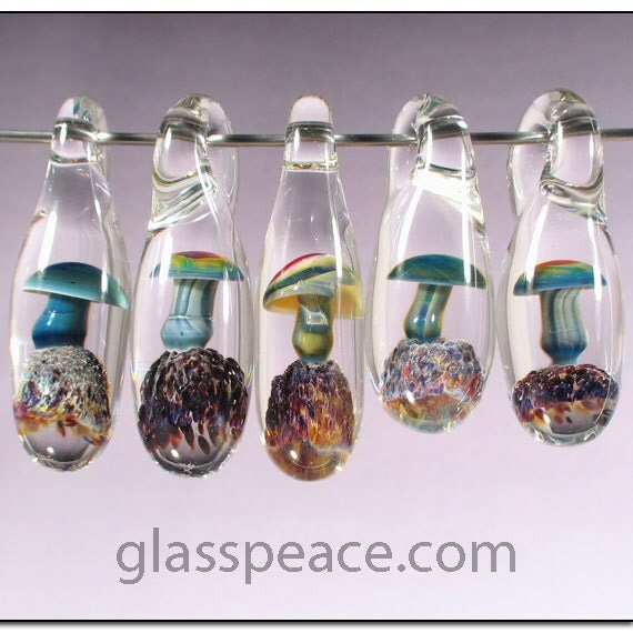Mushroom Beads WHOLESALE Jewelry Supplies Boro By GlassPeace