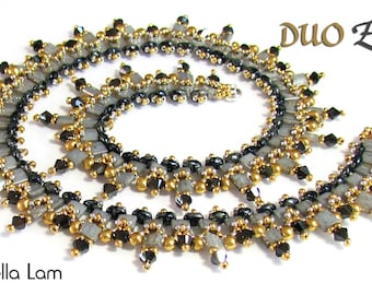 DUO Ziggi SuperDuo Beadwork Necklace Pdf tutorial instructions for personal use only