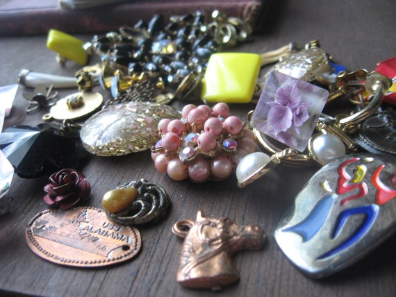 junk jewelry and supplies for crafts altered art and repurposing