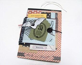 Halloween Mini Scrapbook/Album/ Journal