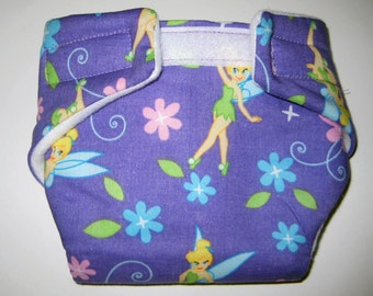 Baby Doll Diaper - Tinkerbell- Fits Bitty Baby, Baby Alive, Cabage Patch,American Girl Dolls and More