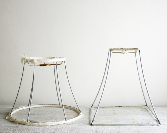 Vintage Metal Wire Lamp Shade Frames