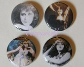 Theda Bara 1 inch 4 button set no.2