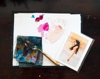 Mini Print - Ghost Orchid - a feminine portrait