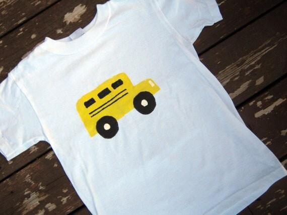 School bus T shirt or Creeper