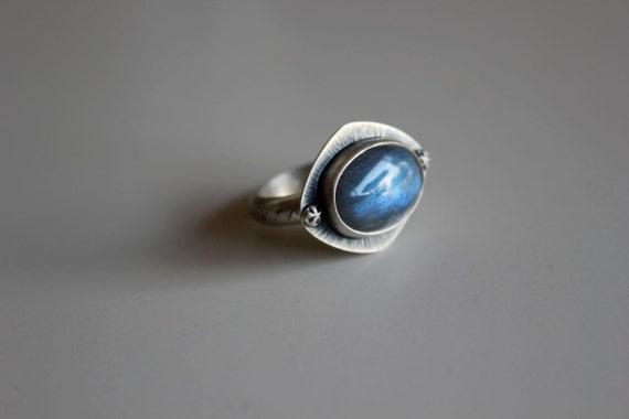 r e s e r v e d ......Under the Blue Moon....... silver,labradorite ring