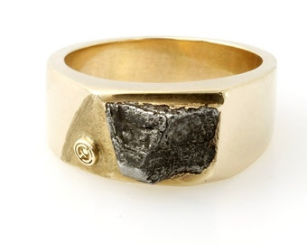 Mans meteorite ring one of a kind -2012060-