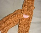 Honey Yellow Hand Knit Fingerless Gloves