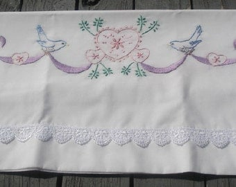 Sew Pretty Pillowcases - Bluebirds and Hearts - Set of 2