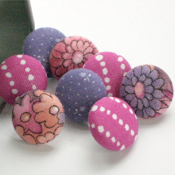 RESERVED. Custom Listing. . . 2 Tack Pack Sets of 8 Fabric Push Pins