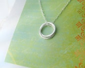 Friendship Jewelry w POEM Card - INSEPARABLe RiNGS Sterling Silver Friendship Necklace Best Friend - Wear Everyday  Simple  Contemporary