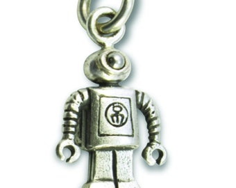 TINY Nanobot in Sterling silver
