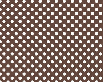 Le Creme Small Brown Dots from Riley Blake Fabrics on sale