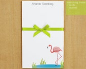 Personalized Flamingo Notepad Stationery - 50 sheets