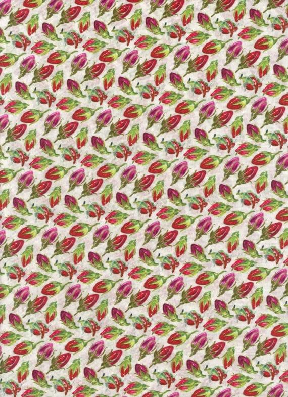 Liberty of London tana lawn fabric Rosebuds by Manolo Blahnik