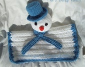 Snowman Snuggle Security Lovey Blanket